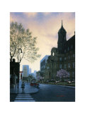 Sunrise in Old Montreal Prints by Denis Nolet