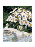 Breakfasting with Daisies Poster by Liliane Fournier