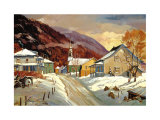 Village of Petite-Riviere-St.Francois Art by Jacques Poirier
