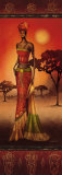 Masai Lady at Sunset Posters par Nicola Rabbett