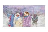 Under the Snow Flakes Art by Hélène Léveillée