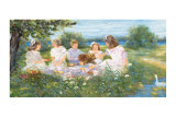 Picnic on the Island Prints by Hélène Léveillée