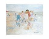 Barefoot at the Seashore Posters by Hélène Léveillée