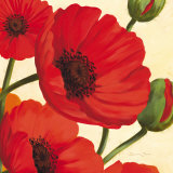 Hawaiian Poppies Print by Susanne Bach