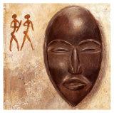 Masque Africain Posters par A. Vargas