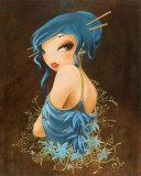 Fleur Bleue Prints by  Misstigri