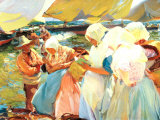 Valencian Women on the Beach Prints by Joaquín Sorolla y Bastida