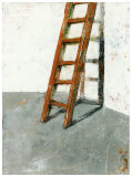 Echelle Sur Mur Blanc Poster by Joël Gangloff