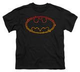 Youth: Batman - Flame Outlined Logo T-Shirt