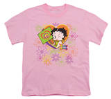 Youth: Betty Boop - Peace, Love and Boop T-Shirt