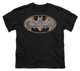 Youth: Batman - Steel Fire Shield T-shirts
