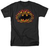 Batman - Bat Flames Shield T-shirts