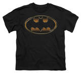 Youth: Batman - Black & Gold Embossed Shield T-shirts