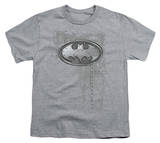 Youth: Batman - Riveted Metal Logo T-shirts