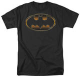 Batman - Black & Gold Embossed Shield T-shirts