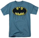 Batman - Dripping Brick Wall Shield T-shirts