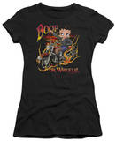 Juniors: Betty Boop - Boop on Wheels Shirt