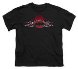 Youth: Batman - Steel Flames Logo T-Shirt