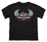 Youth: Superman - Chrome Wings Shield T-shirts