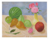 Roses And Fruits No 5 Giclee Print by Thi Nguyen