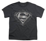 Youth: Superman - Tribal Steel Logo T-shirts