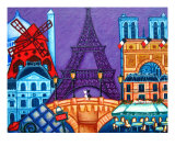 Wonders Of Paris Giclee Print by Lisa Lorenz
