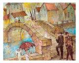 Bridge Giclee Print by Oleg Poberezhnyi