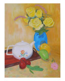 Roses And Fruits No 4 Giclee Print by Thi Nguyen
