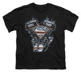Youth: Superman - V Twin Logo T-shirts