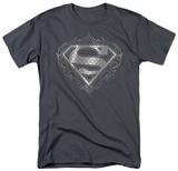 Superman - Tribal Steel Logo Shirts