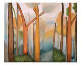 Yellow Forest Giclee Print by Elohim Sanchez