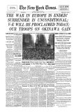 New York Times, May 8, 1945: V-E Day Giclee Print