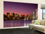 Dusk, Skyline, Chicago, Illinois, USA Wall Mural – Large