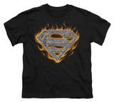 Youth: Superman - Steel Fire Shield T-shirts