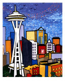 Seattle Space Needle Giclee Print by Rose Jaimison