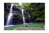 Waikamoi Falls On The Road To Hana Photographic Print by George Oze