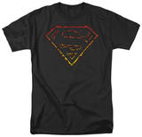 Superman - Flame Outlined Logo Shirts
