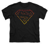 Youth: Superman - Flame Outlined Logo T-shirts