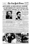 New York Times, November 23, 1963: Kennedy is Killed by Sniper Giclee Print