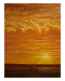 Sunset Cotton Giclee Print by Jerrie Glasper