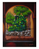 Through The Portico Giclee Print by Gayle Wisbon