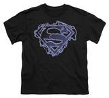 Youth: Superman - Electric Supes Shield T-shirts