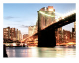 Brooklyn Bridge In NYC Spannning Across The East River Photographic Print by New Yorkled
