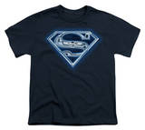 Youth: Superman - Cyber Shield T-shirts
