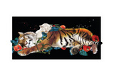 Tiger And Cub Original Giclee Print by Nancy Tillman