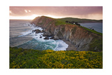 Sunset Chimney Rock, Point Reyes Seashore,Ca Photographic Print by George Oze