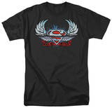 Superman - Chrome Wings Shield T-shirts