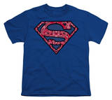 Youth: Superman - Paisley Shield T-shirts