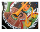 Sax To The Max Giclee Print by Jerry Clovis