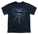 Youth: Superman - Glowing Shield T-shirts